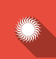 sun icon isolated with long shadow vector image