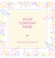 sweet pastel color background banner with copy vector image vector image