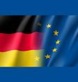 symbol germany is eu member vector image vector image