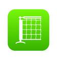tennis net icon green vector image vector image