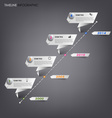 Time line info graphic white folded paper template vector image vector image