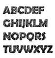 vintage doodle label font poster vector image vector image