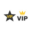 vip icon flat exclusive important membership badge vector image