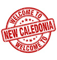 welcome to New Caledonia vector image vector image