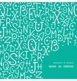 white on green alphabet letters frame corner vector image vector image