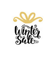 winter sale unique banner with hand lettering vector image vector image