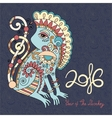 year the monkey vector image