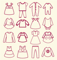 babies background linear vector image
