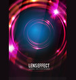 abstract background with lens flare effect poster vector image
