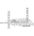 air ambulance service coverage makes a great vector image vector image