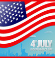 american independence day paper cut design vector image