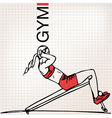 Athletic woman exercising vector image vector image