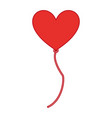balloon air with shape heart vector image vector image