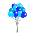 balloons big bundle party decorations birthdays vector image