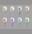 balloons transparent with sparkles circle shape vector image