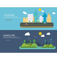 Banners concept of environment green energy and vector image vector image