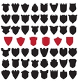 Black and Red Shields vector image vector image