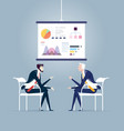 business meeting and presentation board business vector image vector image