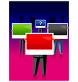 business people holding bilboards vector image