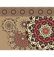 Card with mandalas vector image