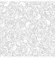 Carnation flower outline seamless background