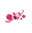 cartoonist 3d rocket background concept design vector image vector image