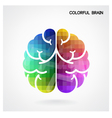 Creative colorful left brain and right brain Idea vector image vector image