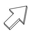 cursor arrow design vector image