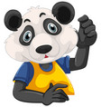 cute bear in human-like pose isolated vector image vector image