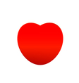 Cute red heart vector image vector image