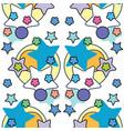 cute stars simple pattern nursery vector image vector image