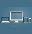 device icons - desktop computer laptop smart vector image