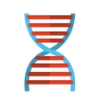 dna molecule isolated icon design vector image