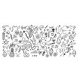 doodle hand drawn elements cartoon abstract vector image