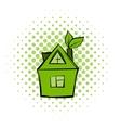 Eco house comics icon vector image vector image