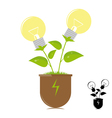 Ecology lamps on the plant vector image