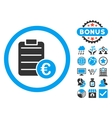 Euro Prices Flat Icon with Bonus vector image vector image