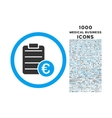 Euro Prices Rounded Icon with 1000 Bonus Icons vector image