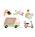 fast express delivery vector image vector image