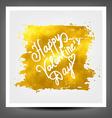 Golden banner happy Valentine day vector image