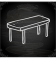 Hand Drawn Table vector image vector image