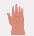 hand human isolated vector image vector image