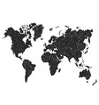 Hand sketch map of the world vector image vector image