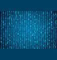 hex code stream random hexadecimal code cyber vector image vector image