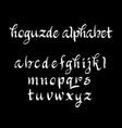 hoguzde alphabet typography vector image vector image