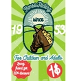 Horse riding banner vector image vector image