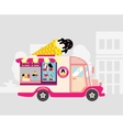 Ice cream car mobile shop vector image vector image
