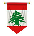 lebanon pennant vector image vector image