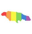 lgbt spectrum dot jamaica map vector image