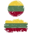 Lithuanian round and square grunge flags vector image vector image